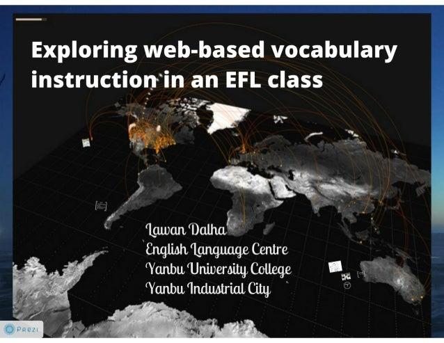 Web based vocabulary instruction