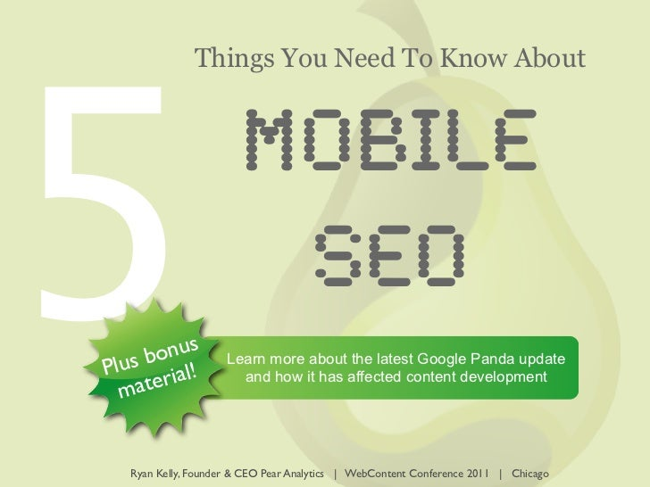 5               Things You Need To Know About                       MOBILE                        SEO        nus   s bo ! ...