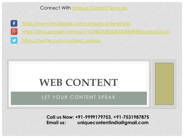 Connect With Unique Content Services  https://www.facebook.com/uniquecontentindia  https://plus.google.com/u/1/10246254830...