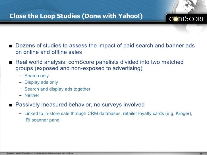 Close the Loop Studies (Done with Yahoo!) <ul><li>Dozens of studies to assess the impact of paid search and banner ads on ...