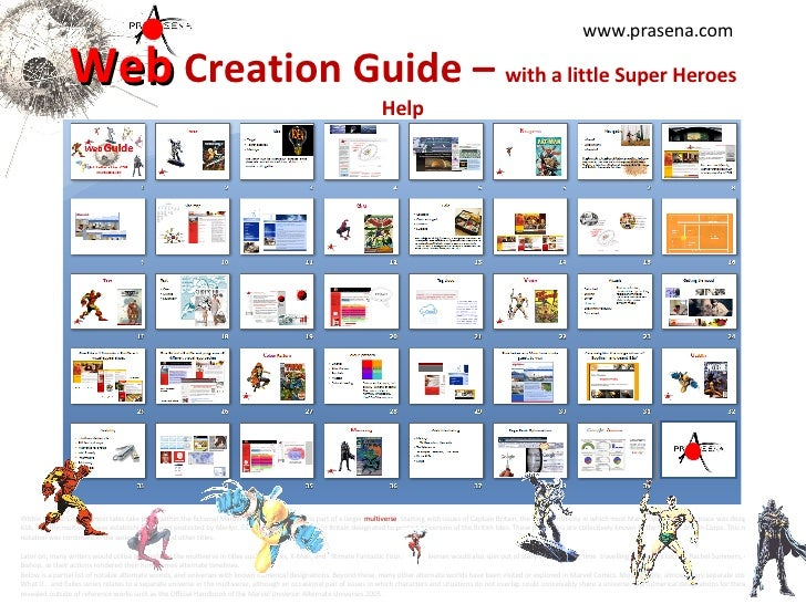 Web  Creation Guide –  with a little Super Heroes Help Within Marvel Comics, most tales take place within the fictional Ma...
