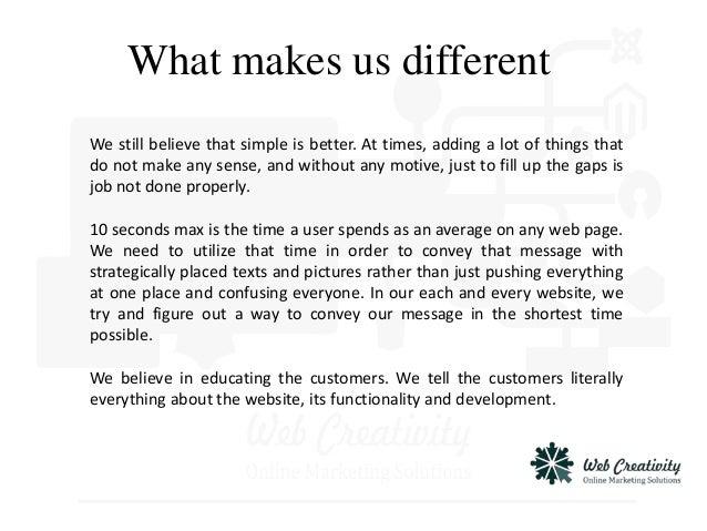 Web creativity company profile.