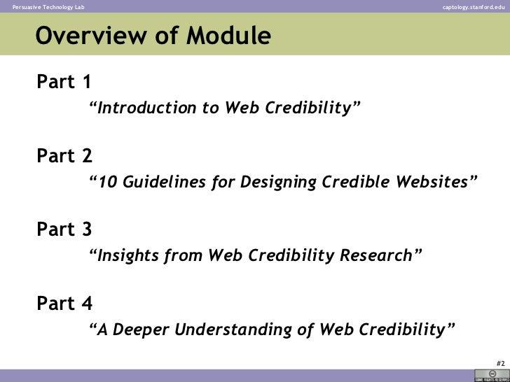 Web Credibility - BJ Fogg - Stanford University Slide 2