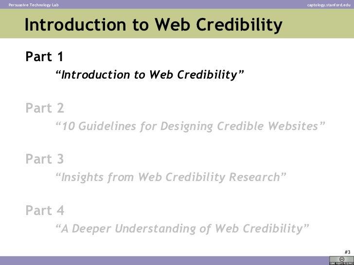 Web Credibility - BJ Fogg - Stanford University Slide 3