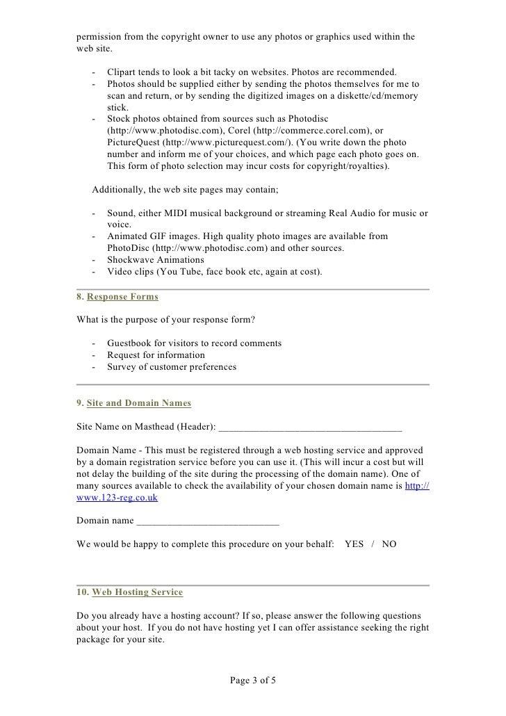 Web Design Planning Worksheet – Website Planning Worksheet