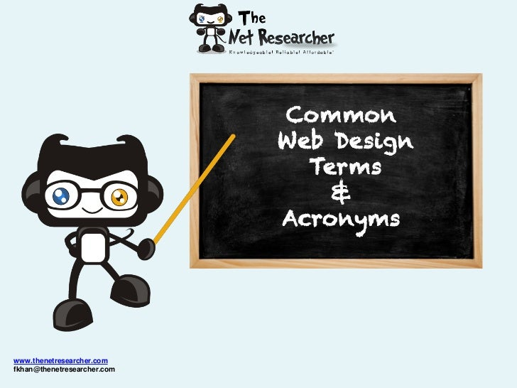 Common                             Web Design                               Terms                                 &       ...