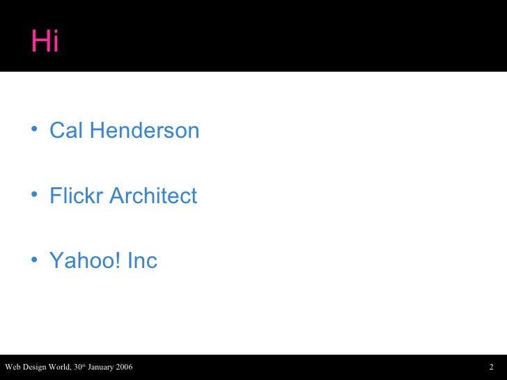 Web Design World Flickr Slide 2