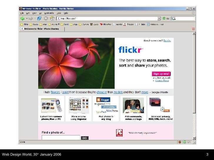 Web Design World Flickr Slide 3