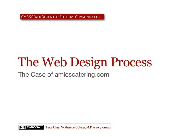 CM350 WEB DESIGN FOR EFFECTIVE COMMUNICATION  The Web Design Process The Case of amicscatering.com  Bruce Clary, McPherson...