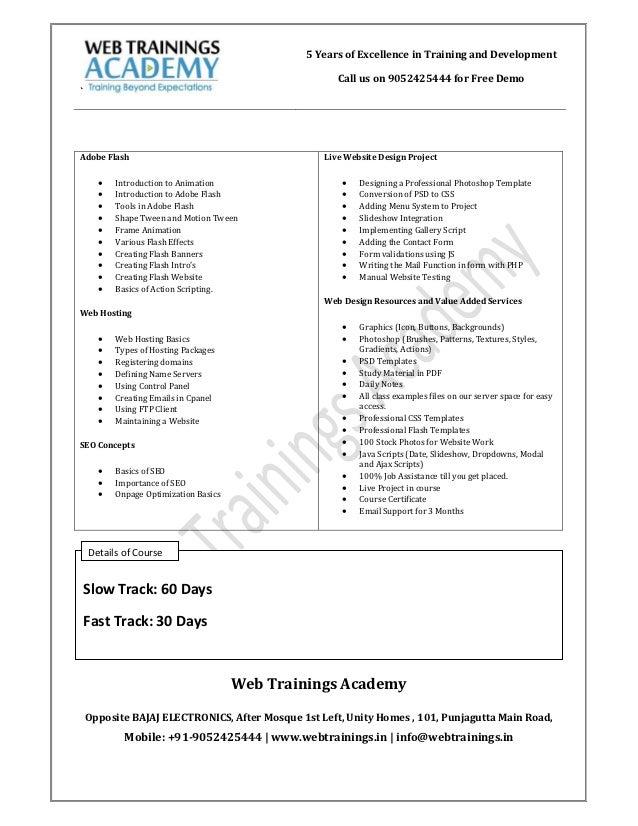 Designing pdf web course