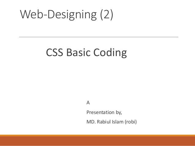 how to learn web designing from basics