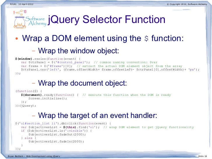Web Development using jQuery