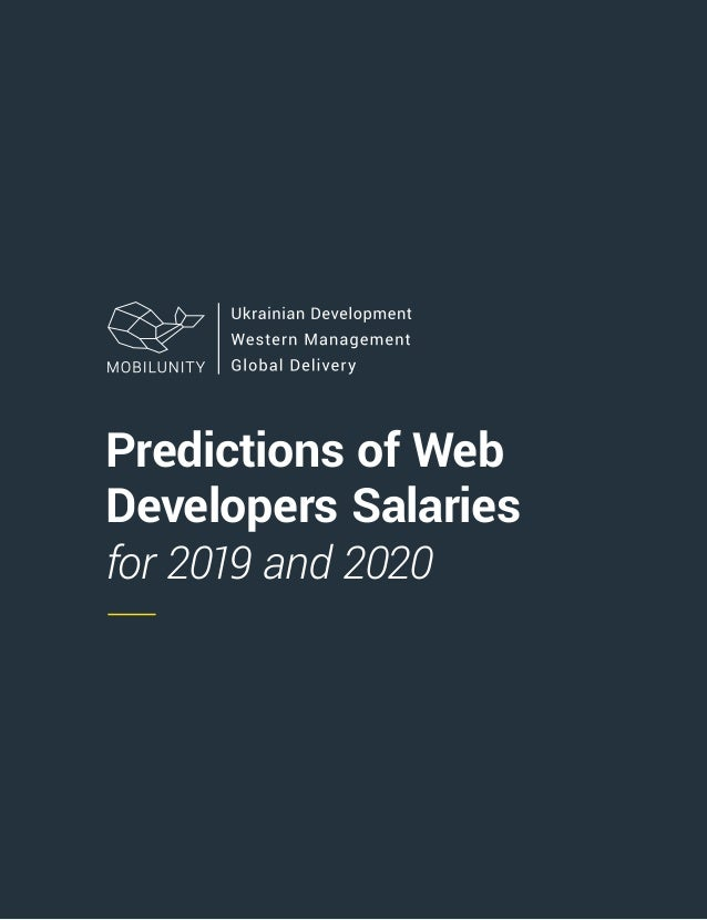 Predictions of Web Developers Salaries for 2019 and 2020