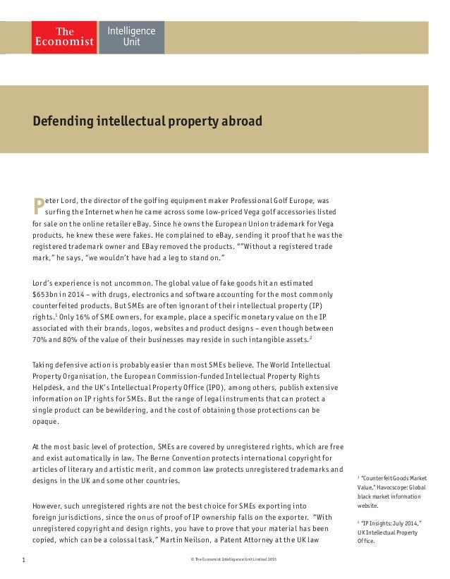Defending intellectual property abroad Slide 2