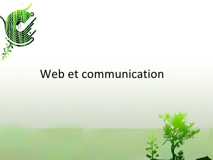 Web et communication