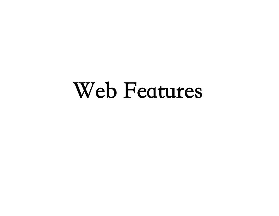 Web Features