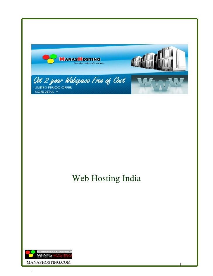 Web Hosting India     MANASHOSTING.COM                       1  .