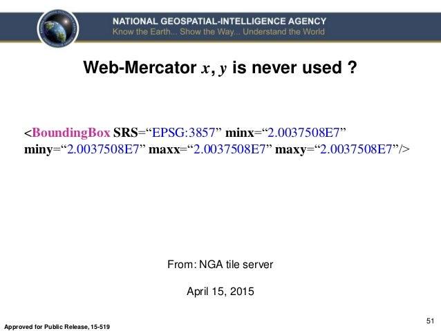 """NGA's Position on """"Web-Mercator"""""""