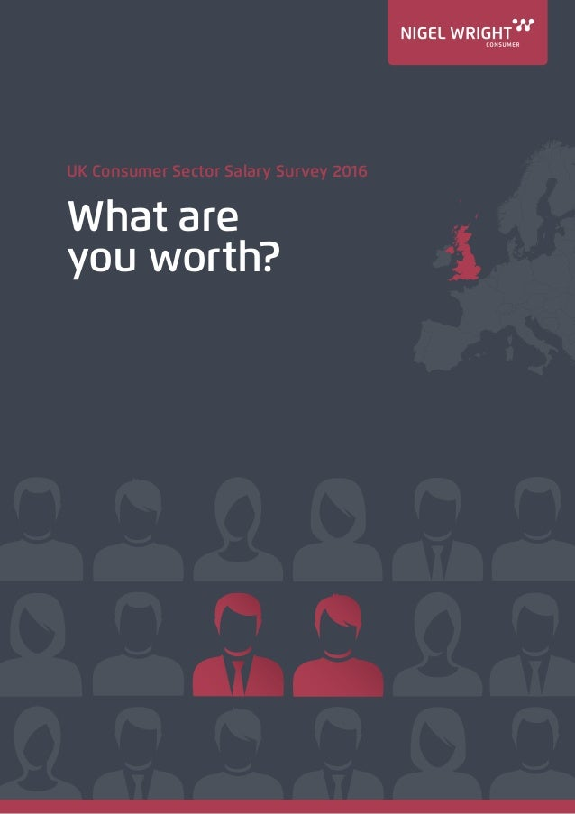 UK Consumer Sector Salary Survey 2016 What are you worth?