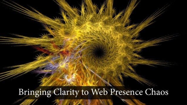 This is Jo Golden of Chaos To             Clarity    where we spend our daysbringing clarity to web presence             c...
