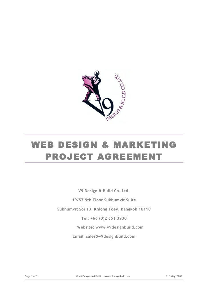 Web project agreement formc web design marketing project agreement platinumwayz