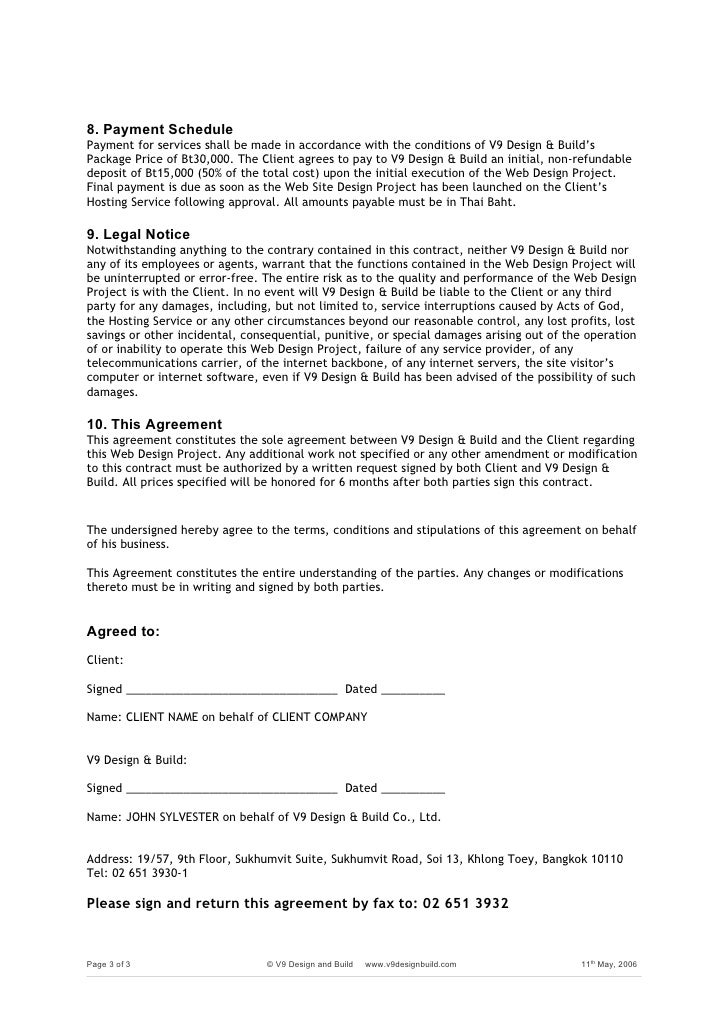 Web Project Agreement Form.Doc