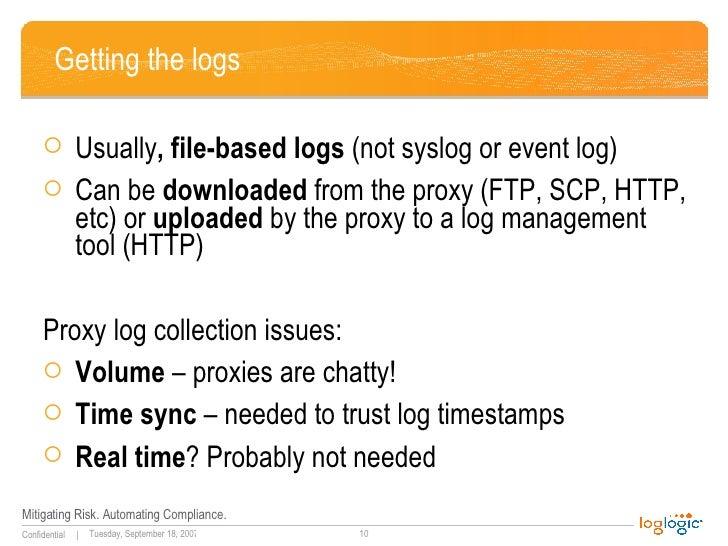 Web Proxy Log Analysis and Management 2007