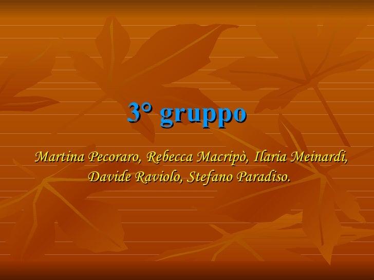 3° gruppo Martina Pecoraro, Rebecca Macripò, Ilaria Meinardi, Davide Raviolo, Stefano Paradiso.