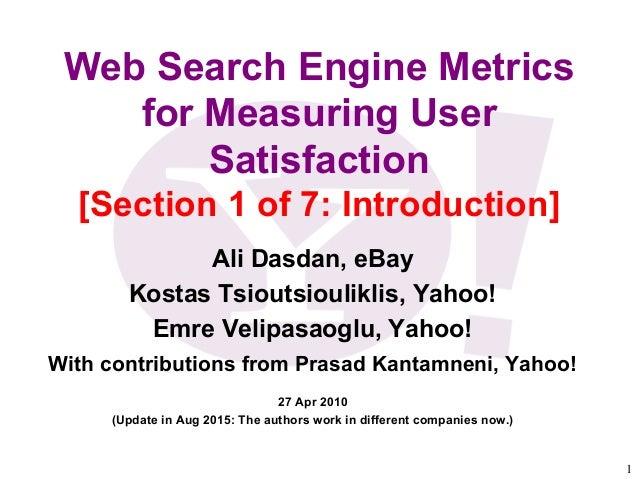Web metrics and thesis