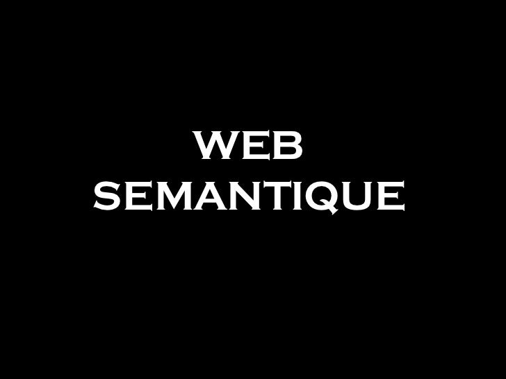 WEB SEMANTIQUE