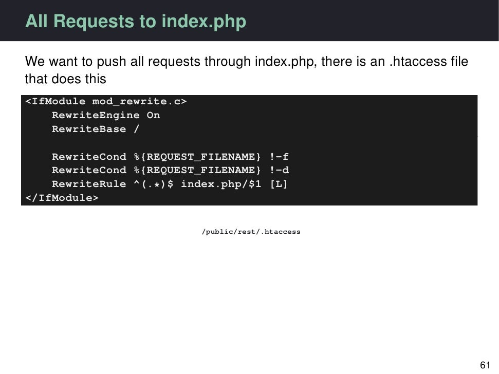 Redirect All Requests to Index.php via htaccess