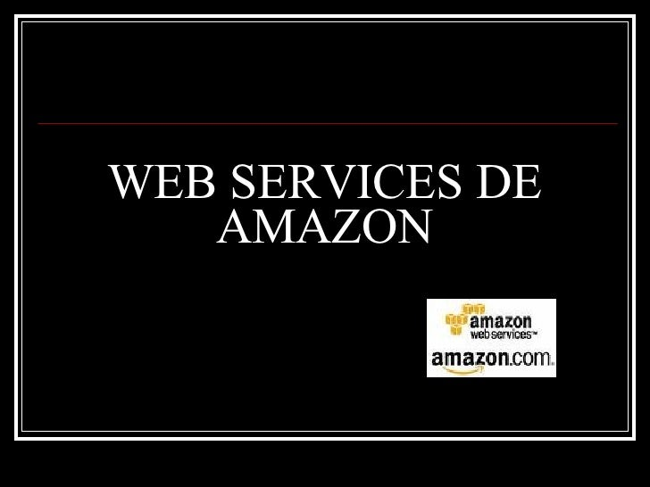 WEB SERVICES DE AMAZON