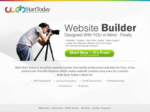 Website Builder - Create a Free Website | Web Start Today