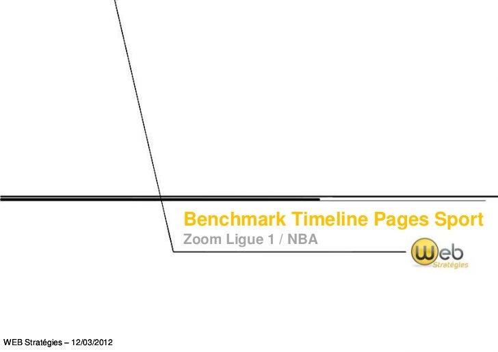 Benchmark Timeline Pages Sport                              Zoom Ligue 1 / NBAWEB Stratégies – 12/03/2012
