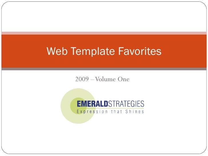 Web Template Favorites 2009 – Volume One