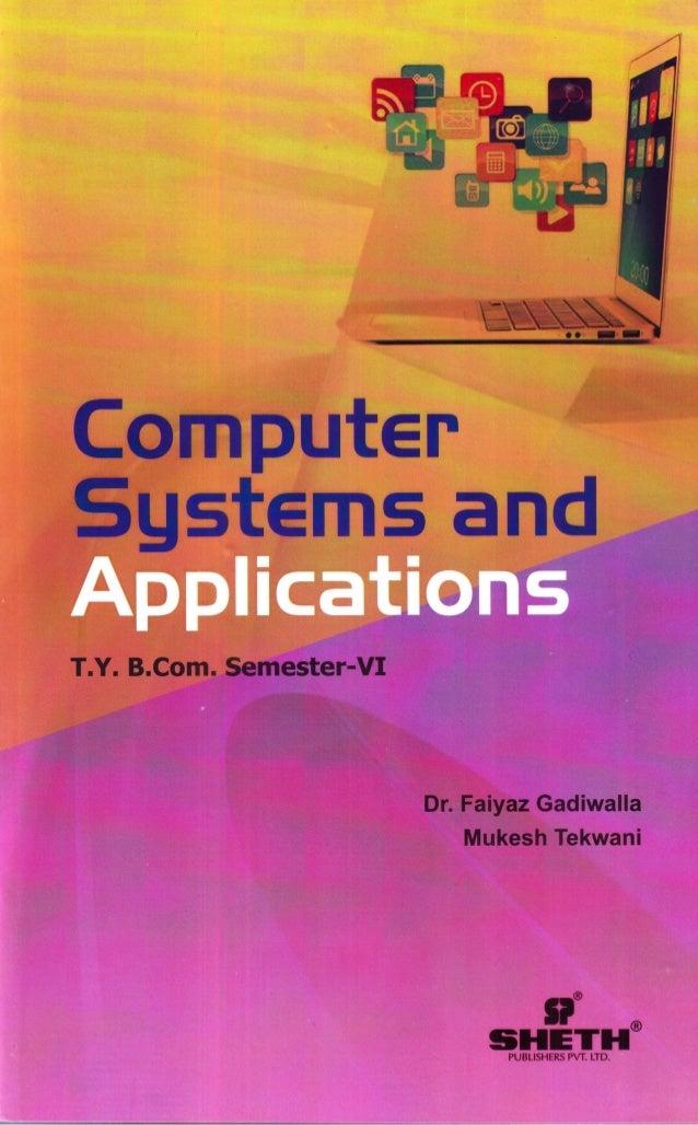 TYBCom Computer Systems and Applications - Sem 6 - University of Mumbai