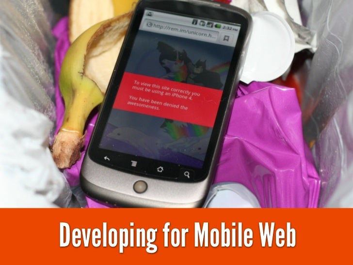 Developing for Mobile Web