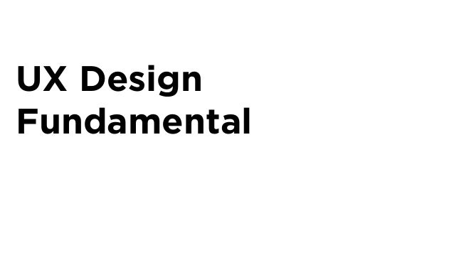 UX Design Fundamental ...