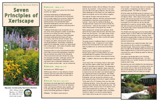 Nipomo Community Services District                                     XERISCAPE:        What is it?                      ...