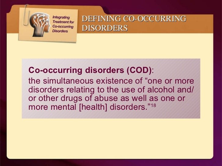 co occurring disorders essay 2 screening, assessment, and treatment planning for persons with co-occurring disorders a vast amount of literature exists on screening, assessment, and treatment planning in substance abuse treatment and an.