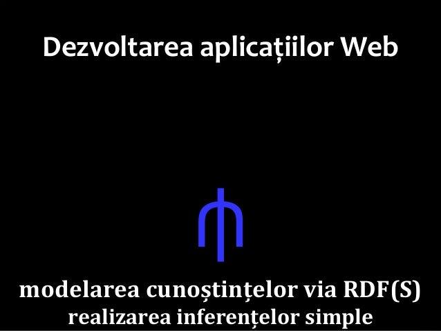 Dr.SabinBuragaprofs.info.uaic.ro/~busaco Dezvoltarea aplicațiilor Web ⫛ modelarea cunoștințelor via RDF(S) realizarea inf...