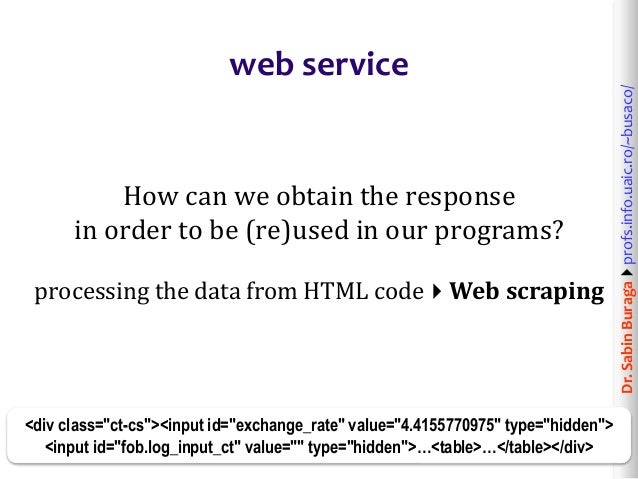 Web Technologies (9/12): Web Services  From Service-Oriented