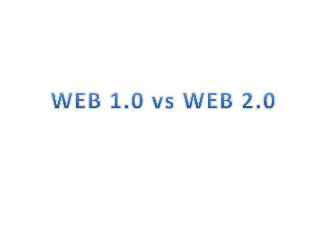 Web 1.0 • Web 1.0 se refiere a un estado de la World Wide Web, y cualquier página web diseñada con un estilo anterior del ...