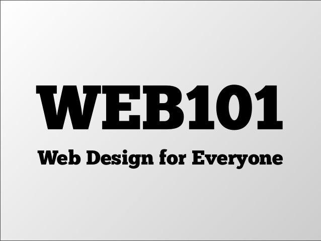 WEB101 Web Design for Everyone