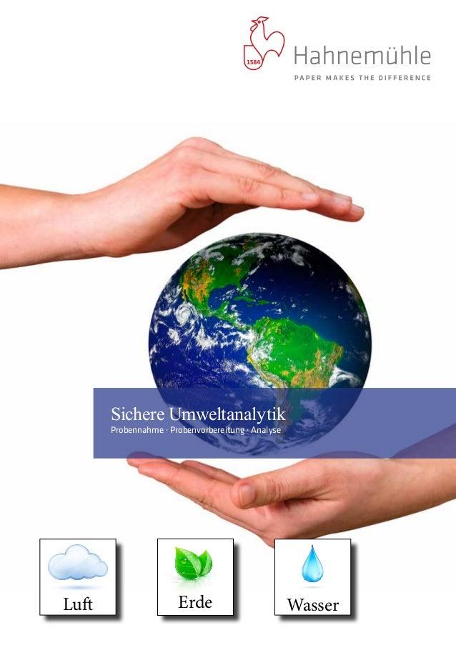 ErdeLuft Wasser Sichere Umweltanalytik Probennahme · Probenvorbereitung · Analyse