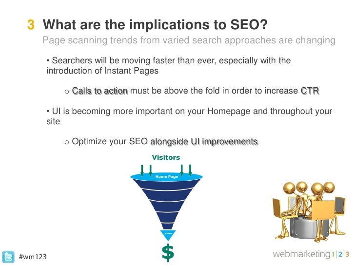 3 What are the implications to SEO?     Page scanning trends from varied search approaches are changing     • Searchers wi...