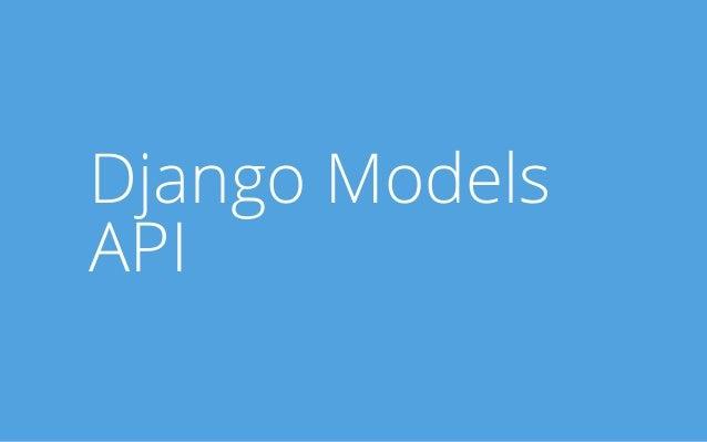 Django Models API