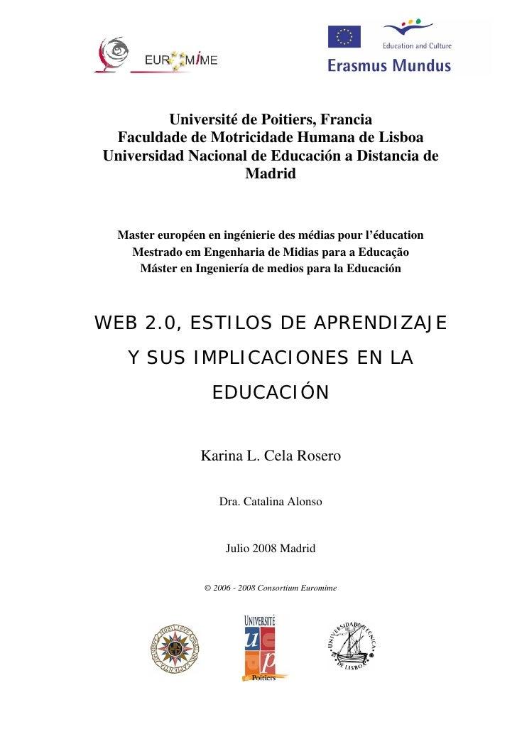 Université de Poitiers, Francia  Faculdade de Motricidade Humana de Lisboa Universidad Nacional de Educación a Distancia d...