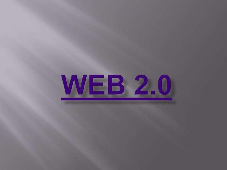 La web 2.0 es un conjunto de personas interconectadas que intercambian informacion por medio de diferentes aplicaciones en...