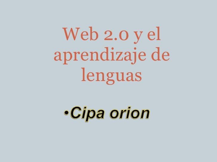 Web 2.0 y el aprendizaje de lenguas
